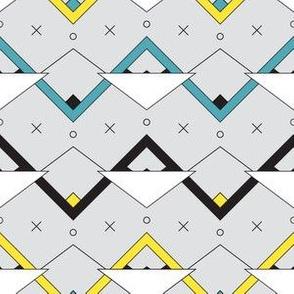 Zig Zag Triangles - Gray