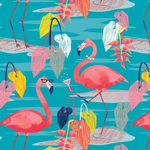 Tall Flamingos kitsch baby