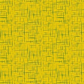 Drizzles of Lime Zest on Bright Yellow - Small Scale