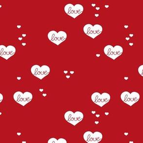 Little love & hearts valentine romance hot red
