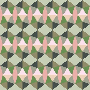 pentagons green and peach