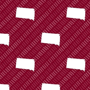 South Dakota State Shape Pattern Garnet and White Stripes