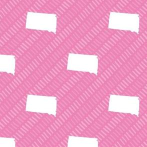 South Dakota State Shape Pattern Pink-01-01