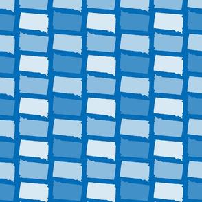 South Dakota State Outline Pattern Blue-01-01