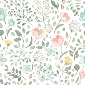 Whimsical Floral Half Scale