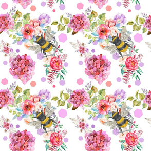 Ditzy Bees and Flowers