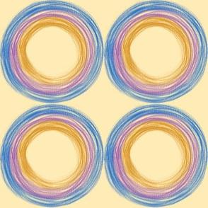 Mellow Yellow  Circles by Kimberhew
