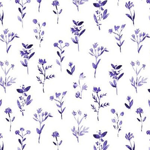 Amethyst little flowers ★ watercolor purple florals for modern home decor, bedding, nursery