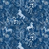 Moonlit Unicorns in the Woods of Wonderment (medium scale)
