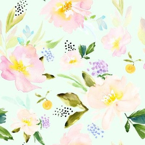 Always in Bloom Spring Florals // Hint of Green