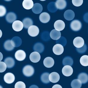 classic blue bokeh dots