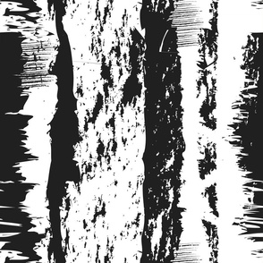 Wild Paths Through The Woods -  Black and White Painterly