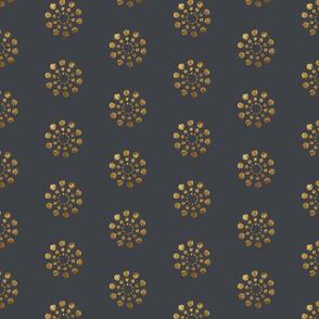 Golden Bursts-Grey