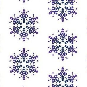 Purple Floral Star