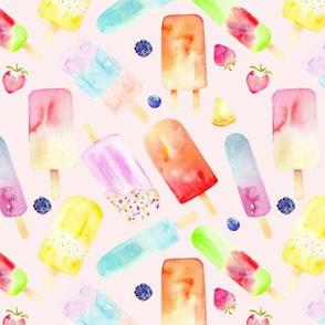 Watercolor Popsicles // Blush