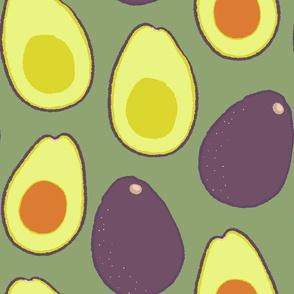 Avocados on Sage - Large