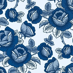 Classic Blue Floral - limited colour palette