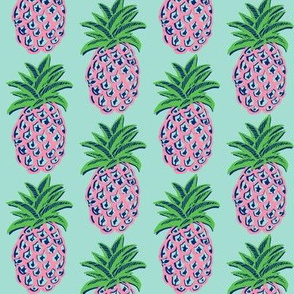 Pineapples ~  pink pineapple fabric