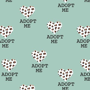 Adopt me pet love leopard cat hearts adoption dogs and cats good cause design mint  pink