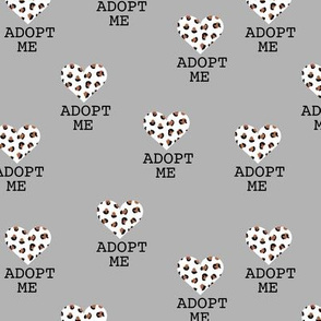 Adopt me pet love leopard cat hearts adoption dogs and cats good cause design gray