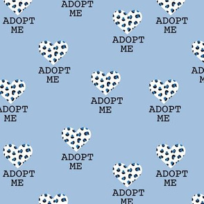 Adopt me pet love leopard cat hearts adoption dogs and cats good cause design blue