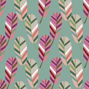 tribal feathers pattern