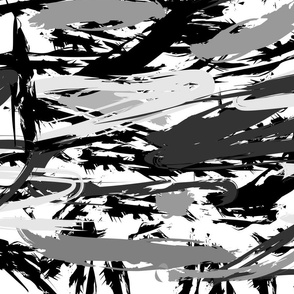 Black and White Painterly