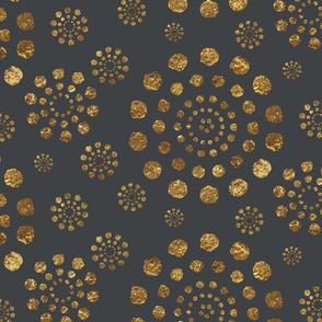 Golden Multi Bursts-Grey-Large