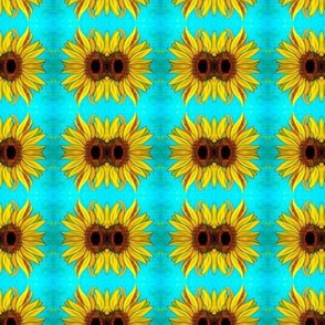 Sunflower Yellow and Blue