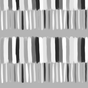 black and white multi stripe