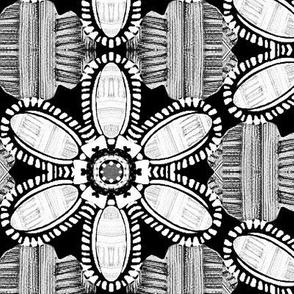 Painterly Petals / Black & White