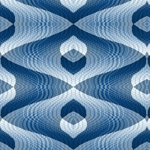 Abstract Wavy Plaid, Limited Palette