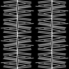 Ebony abstract stripe-Black