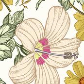Vintage Goldenrod Floral