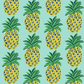 Pineapple yellow  mint summer