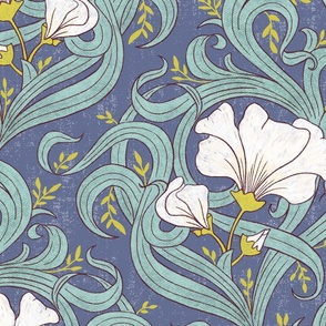 Art Nouveau Modern Floral - large scale