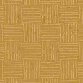 Hatch square striped pattern - honey