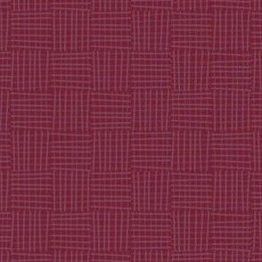 Hatch square rhubarb red