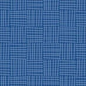 Hatch square in classic blue