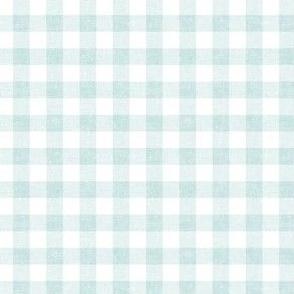 Spring plaid - Gingham Check - blue - LAD20