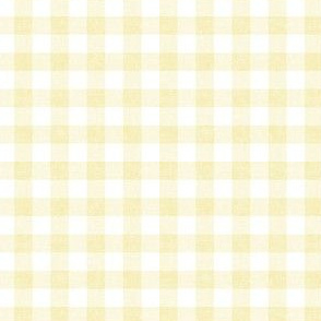 Spring plaid - Gingham Check - yellow - LAD20