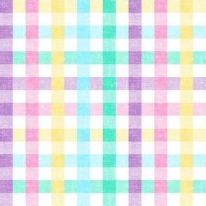 Easter Plaid - Spring Plaid - Easter egg colors - Gingham Check - LAD20