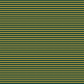 Tiny Breton Stripe - Forest and Gold