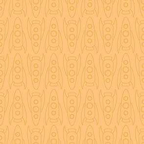 rocketships on orange
