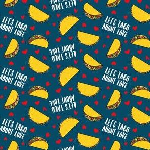 "(1"" scale) Let's taco about love - dark blue - Taco Valentine - Valentine's Day - C20BS"