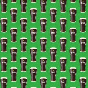 "(1"" scale) Irish stout - dark beer on green - C20BS"