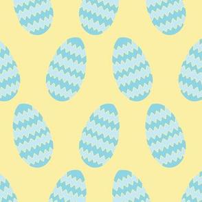 Chevron Easter Eggs, blue yellow