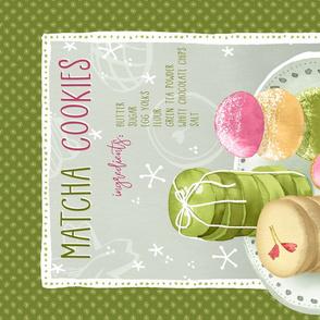 Green Tea Cookies Recipe Tea Towel / Green