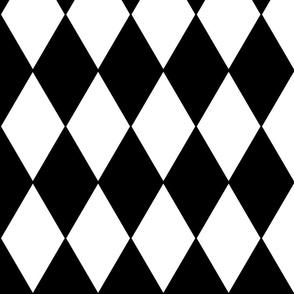 "Harlequin Diamonds ~ Black & White 4"" width"