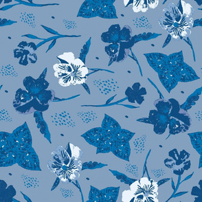 Pansy for Collection Classic Blue ©Claudette MacLean